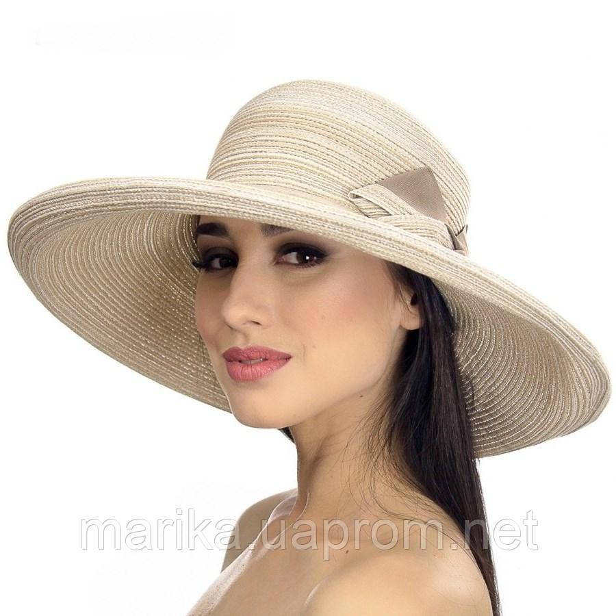 Шляпа пляжная с большим бантом