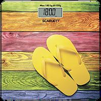 Стеклянные напольные электронные весы ЖК дисплей Scarlett SC-BS33E057