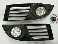 Штатные противотуманки на диодах Fiat Doblo 2005-2010 г.в.