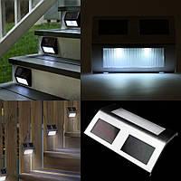 Светодиодный фонарь светильник для подсветки ступенек на солнечной батареи