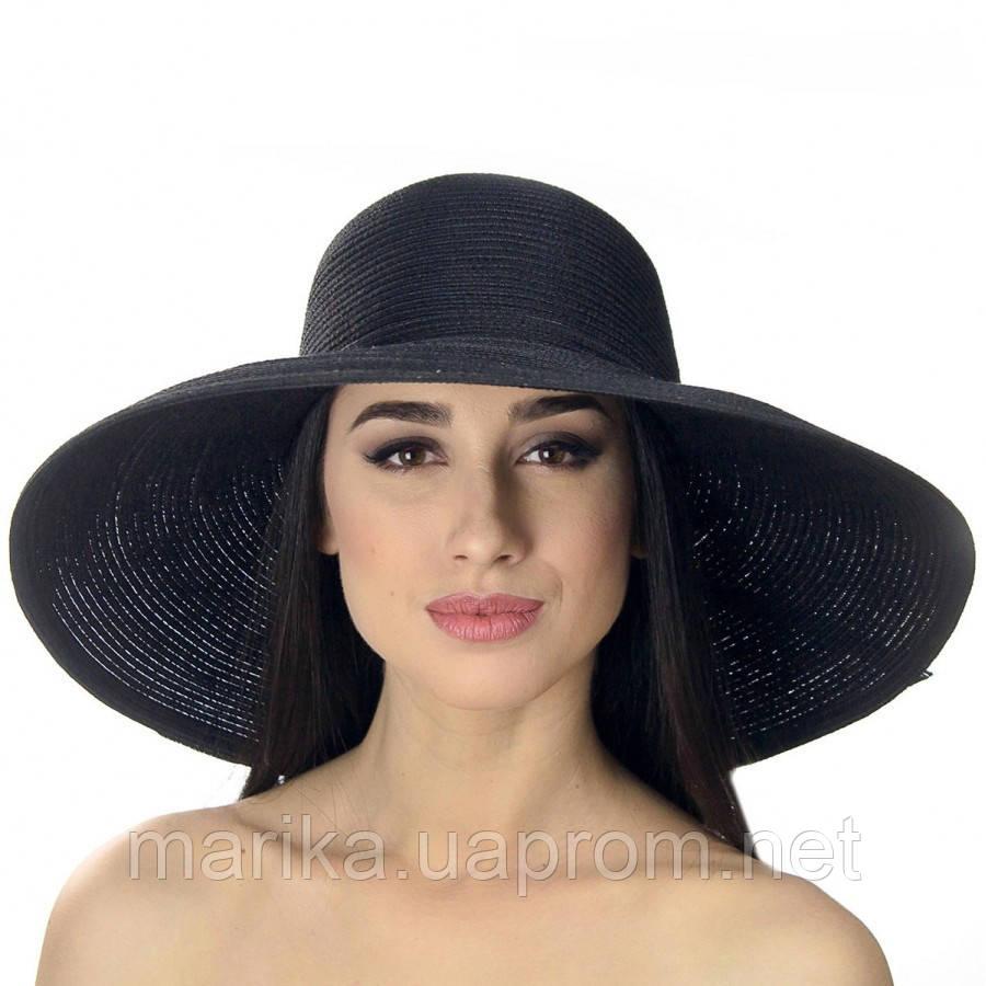 Шляпа пляжная со стразами