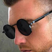 Круглые солнцезащитные  очки 6934 черн Matrix Polarized