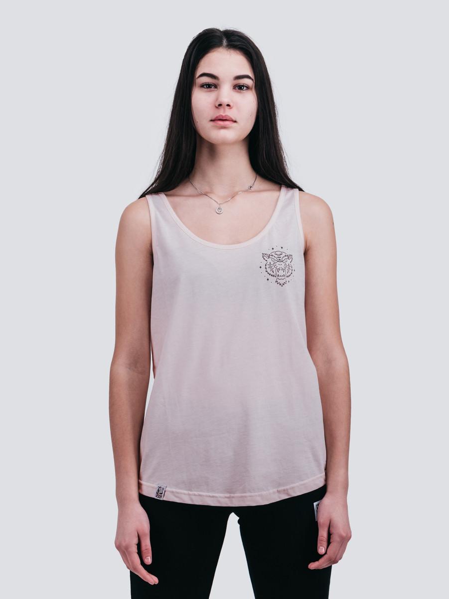 Майка жіноча футболка Urban Planet TIGER TANK рожева розміри XS S M L XL