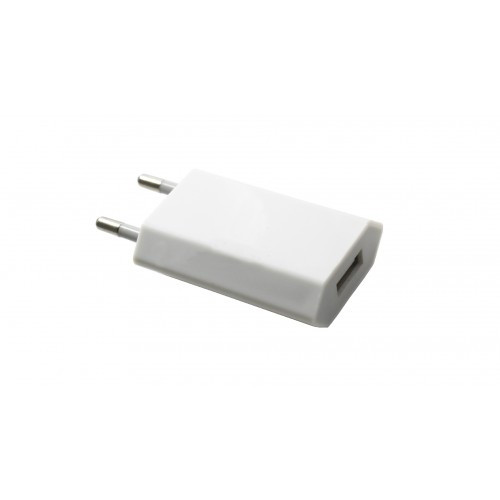 Блок зарядки СЗУ USB Apple iPhone 1A плоский white