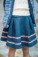 Юбка голубого цвета для девочки. (116 см.) Smooch 2125000510873