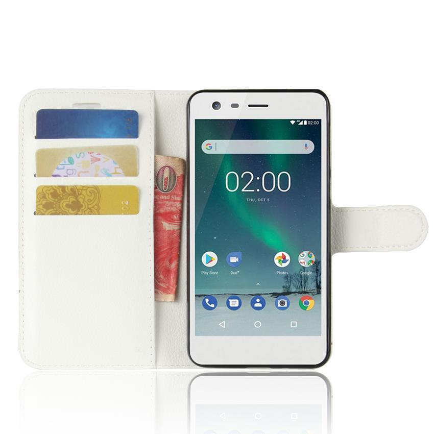 Чехол-книжка Litchie Wallet для Nokia 2 White (lwwh0169)