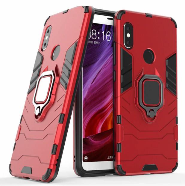 Чехол Ring Armor для Xiaomi Redmi Note 5 Pro Красный (hub_eAid96703)