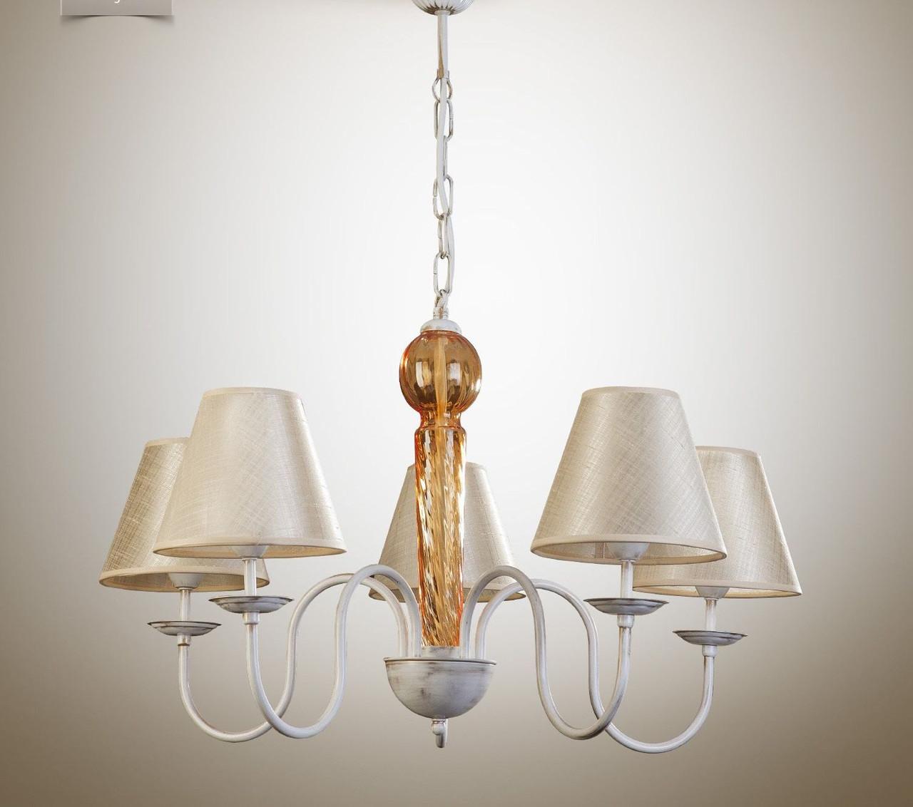Люстра металева з абажурами для залу, спальні, дитячої 17105-3