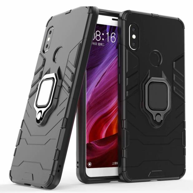 Чехол Ring Armor для Xiaomi Redmi Note 5 Pro Черный (hub_WKsx23179)