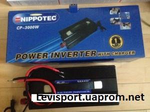 Преобразователь напряжения с подзарядкой CP-3000W Nippotec 12/220v 3000 Ватт, инвертор