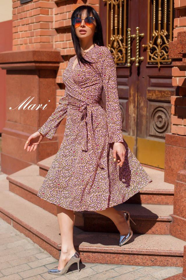 Платье на запАх из лёгкой воздушной ткани Ткань софт. Размер:42-46. Разные цвета (721)