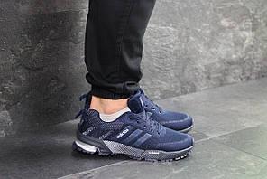 Кроссовки адидас марафон мужские темно-синие демисезонные (реплика) Adidas Marathon Dark Blue