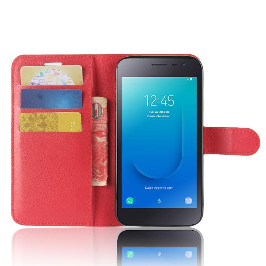 Чехол-книжка Litchie Wallet для Samsung J415 Galaxy J4 Plus Red (lwrd0193)