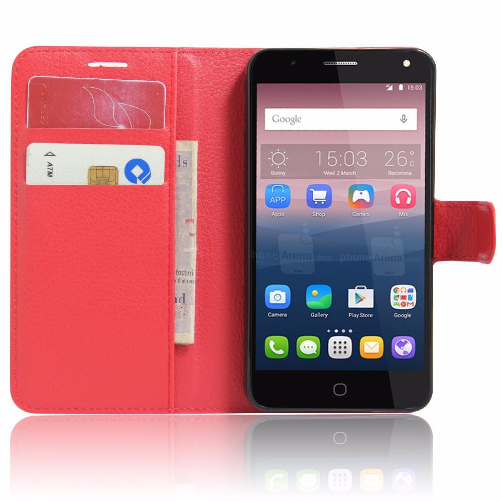 Чехол-книжка Litchie Wallet для Alcatel One Touch Pop 4 5051 Red (lwrd0003)