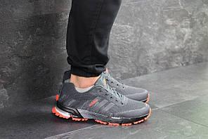Кроссовки адидас марафон мужские серые демисезонные (реплика) Adidas Marathon Grey
