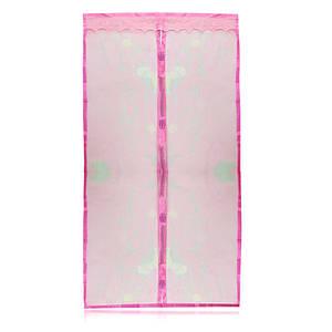Противомоскитные магнитные шторы Magic Mesh розовые 149818