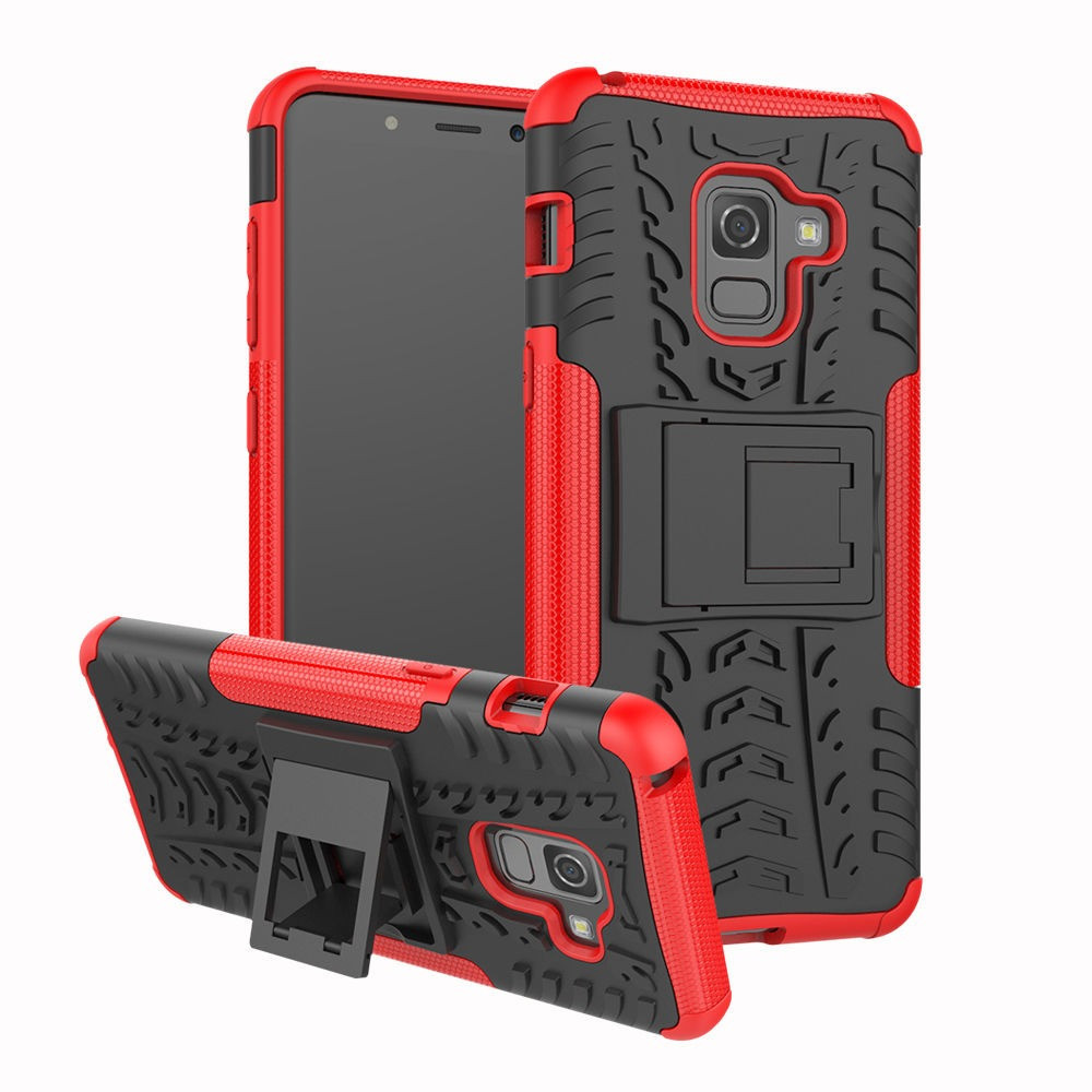 Чехол Armor Case для Samsung A730 Galaxy A8+ 2018 Красный (hub_DMkf89385)