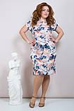 Шикарное женское летнее платье,короткий рукав,ткань супер софт,размеры:50,52,54.56., фото 2