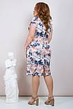 Шикарное женское летнее платье,короткий рукав,ткань супер софт,размеры:50,52,54.56., фото 3
