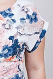 Шикарное женское летнее платье,короткий рукав,ткань супер софт,размеры:50,52,54.56., фото 4