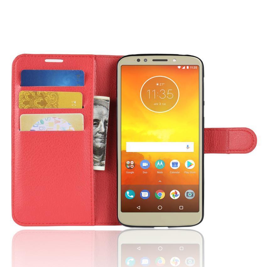 Чехол-книжка Litchie Wallet для Motorola Moto E5 XT1944 / G6 Play XT1922 Red (lwrd0142)