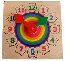 Деревянные часы Kronos Toys на подставке Разноцвет (tsi_18242)