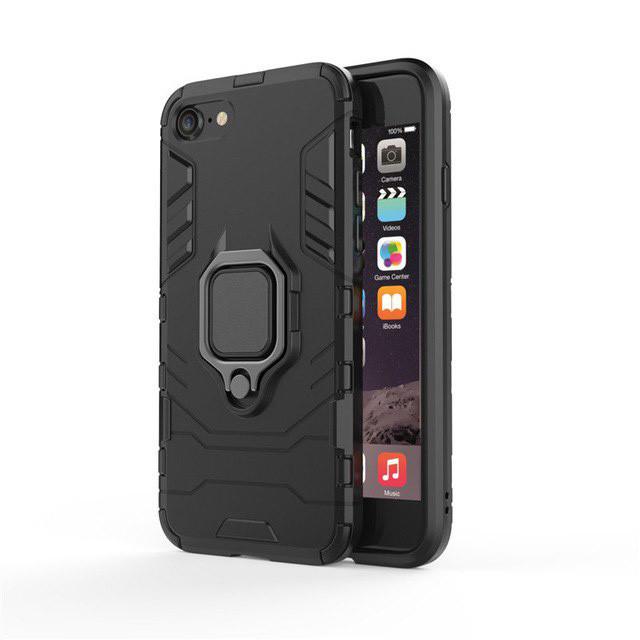 Чехол Ring Armor для Apple iPhone 7 / iPhone 8 Черный (hub_dQFA11947)