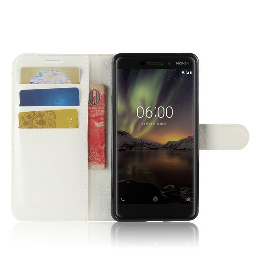 Чехол-книжка Litchie Wallet для Nokia 6 White (lwwh0166)