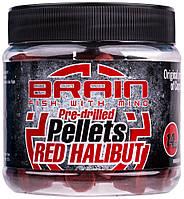 Пеллетс Brain Red Halibut Pre drilled 14mm 250g