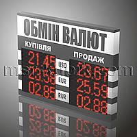 Светодиодное инфорационное табло обмена валют 830х600 одностороннее