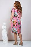 Женское модное летнее платье,ткань супер софт,размеры:50,52,54,56., фото 3