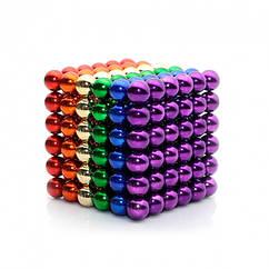 Неокуб NeoCube Радуга Разноцветный 6 цветов ! [5мм * 216 шариков] + Металлическая Коробка в Подарок