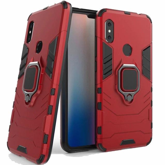 Чехол Ring Armor для Xiaomi Redmi Note 6 Pro Красный (hub_xhRc45528)
