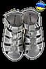 Мужские сандалии кожанные закрытые inblu dx-71 черные   летние