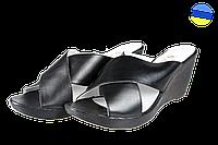 Женские босоножки замшевые на платформе salama 87066ч,к черные   летние