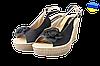 Женские босоножки модельные на танкетке inblu ceasoo01 черные   летние