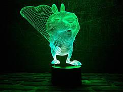 Светильник 3D 3DTOYSLAMP Бельчонок
