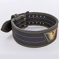 Пояс для пауэрлифтинга кожаный Velo 8184: размер M-XXL (ширина 4см)
