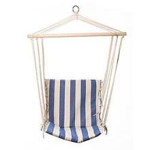 Гамак сидячий 483В-3 подвесное кресло с спинкой гамак для сада дачи с деревянной планкой