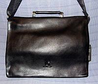 Мужская сумка Gorangd 9805-3 черная формат А4 под планшет искусственная кожа