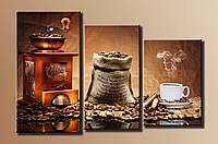 "Картина модульная на холсте ""Кофе""HAT-006"