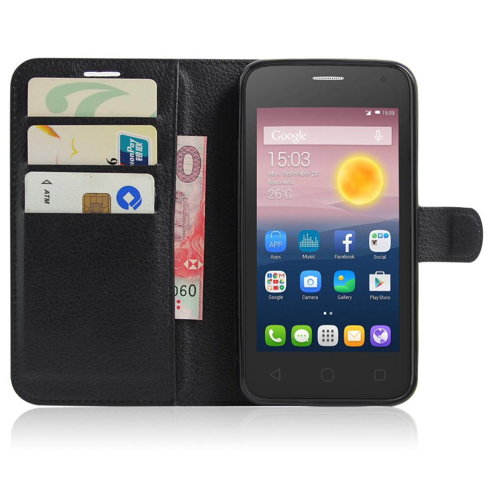 Чехол-книжка Litchie Wallet для Alcatel One Touch Pixi 4 5010 Black (lwbk0007)