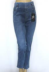 Женские джинсы большого размера и поясом на резинке