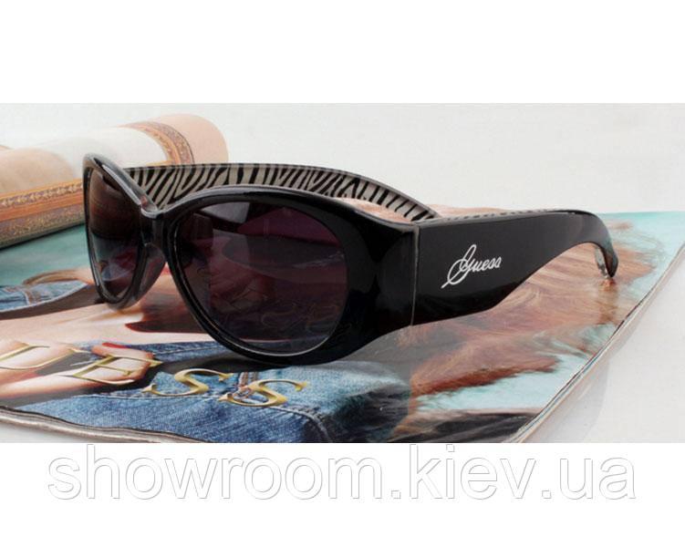 Солнцезащитные очки в стиле Guess (GUF 208 black) Lux