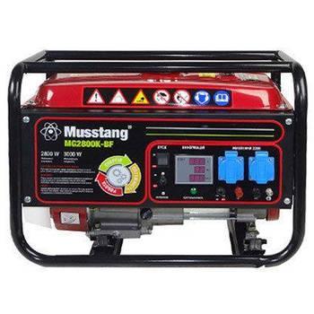 Генератор комбинированный MUSSTANG MG2800K-BF/V с вольтметром (газ/бензин)