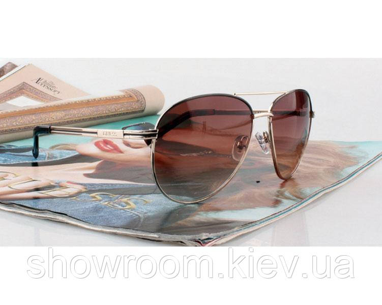 Солнцезащитные очки в стиле Guess (GUF 109 brown) Lux