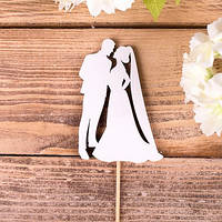 Топпер свадебный поцелуй  8,5 см Мелкий декор