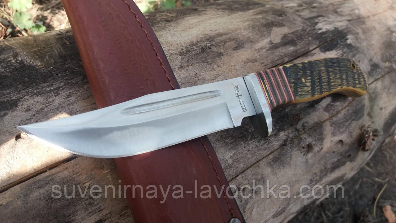 Нож нескладной Кость быка для охотничий