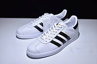 Кроссовки мужские Adidas Gazelle Vintage белые кеды адидас