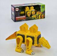 Конструктор магнітний Динозавр Жовтий (світло, звук) 20 деталей LQ623